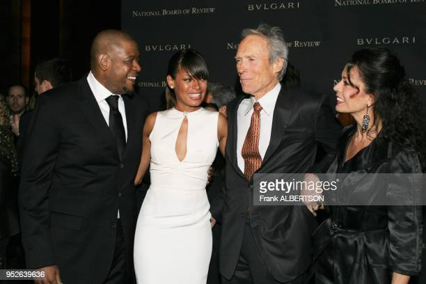New York NY Jan 9 2007 Forest Whitaker and Keisha with Clint Eastwood and wife Dina at the 2006 National Board of Review Awards Gala half length...