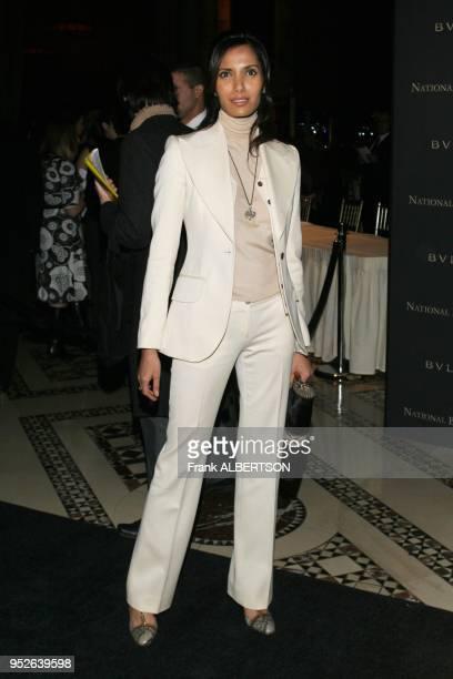 New York NY Jan 9 2007 Padma Lakshmi at the 2006 National Board of Review Awards Gala full length suit eye contact Frank Albertson