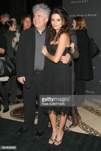 New York NY Jan 9 2007 Penelope Cruz and Pedro Almodovar at the 2006 National Board of Review Awards Gala full length smile eye contact Frank...