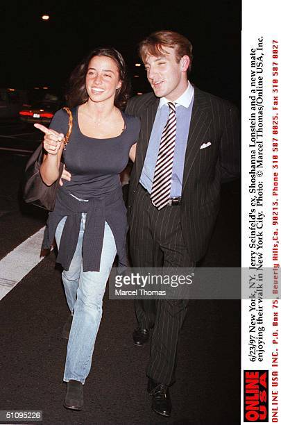 New York Ny Jerry Seinfeld's Ex Shoshanna Lonstein And A New Mate Enjoying A Walk In New York City