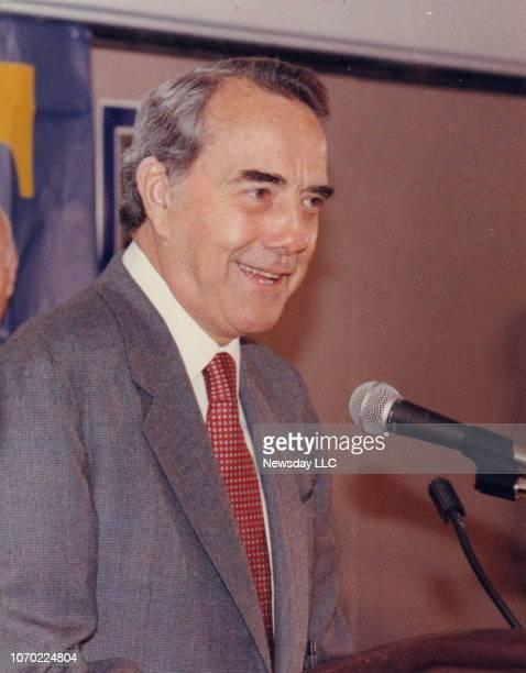 Kansas Senator Robert Dole at the Grand Hyatt Hotel in New York, New York on Jan. 11, 1988 after being endorsed for President by New York Senator...