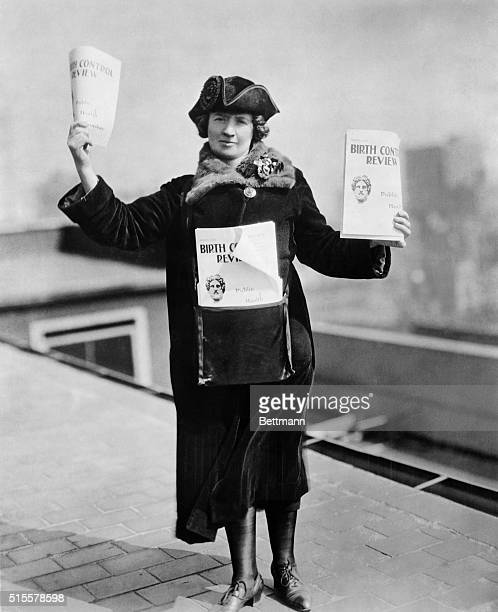Kitty Marion ready to sell Birth Control Review in the streets of New York Photograph 1915