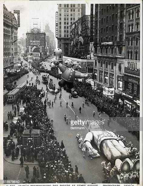 Macy's Thanksgiving Day Parade at Times Square Photograph ca 1930s