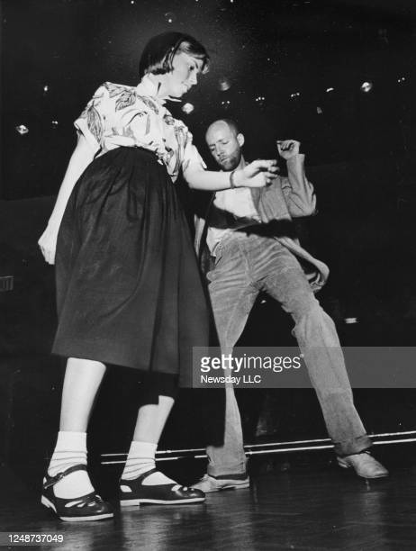 Mallory Sanson and Michael O'Brien dance at Club New York, New York at 33 West 52 St. In Manhattan on April 27, 1978.