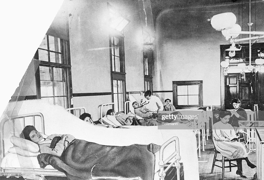 Typhoid Mary in Hospital Bed : News Photo