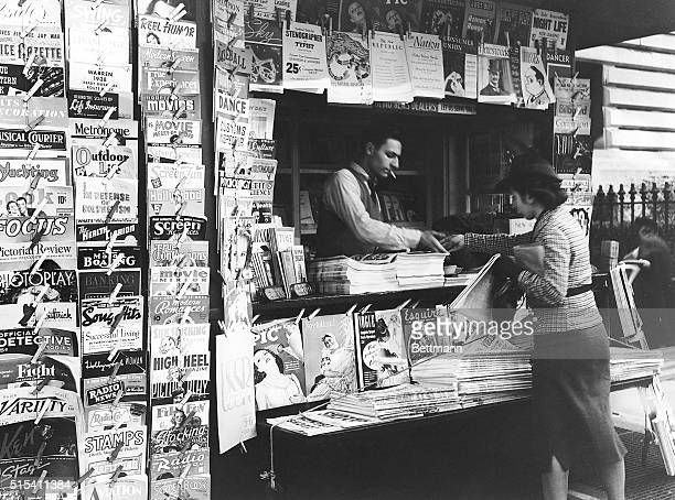 Newsstand at 5th Ave and 42nd St in New York City