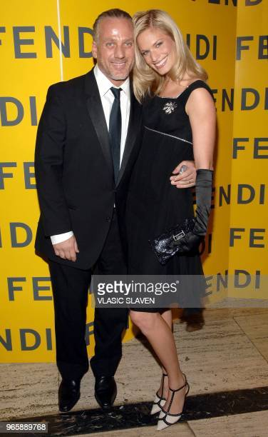 Mark Baker and wife Vicky Andren attend the Fendi 80th Anniversary All Hallow's Eve party hosted by Karl Lagerfeld in New York NY on Saturday October...