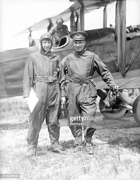 5/22/1921 New York NY Postmaster Will Hays arrived here in a mail plane piloted by Brigadier General William A Mitchell of the United States Air...