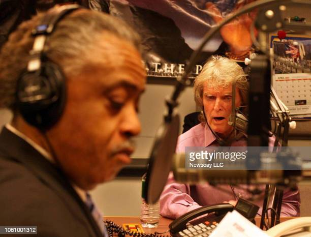 Radio personality Don Imus appears on the Al Sharpton's radio show Keeping It Real at the ABC studios in Manhattan on April 9 2007 Imus apologizd for...