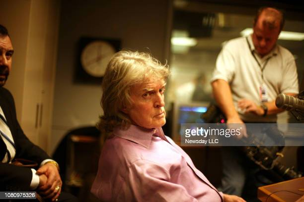Radio personality Don Imus during a break in an appearance on the Al Sharpton radio show Keeping It Real at the ABC studios in Manhattan on April 9...