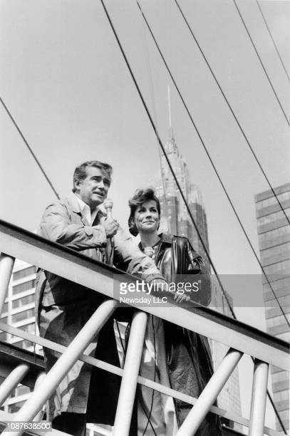 Regis Philbin and Kathie Lee Gifford on location in Manhattan on April 28 1988