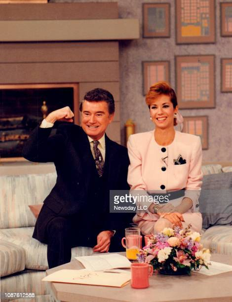 Regis Philbin and Kathie Lee Gifford on the set of Live with Regis and Kathie Lee on WABC television in New York on April 25 1988