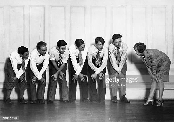 Rehearsal of the All Y's Crackers revue and minstrel show put on by the members and employees of the West Side YMCA of 318 West 57th Street NYC Miss...