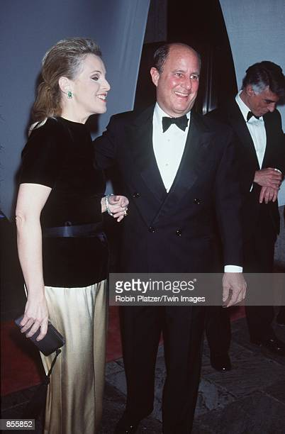 """New York, NY. Ron Perelman and Claudia Cohen at the Whitney Museum fundraiser dinner gala, """"Brite Nite Whitney."""""""