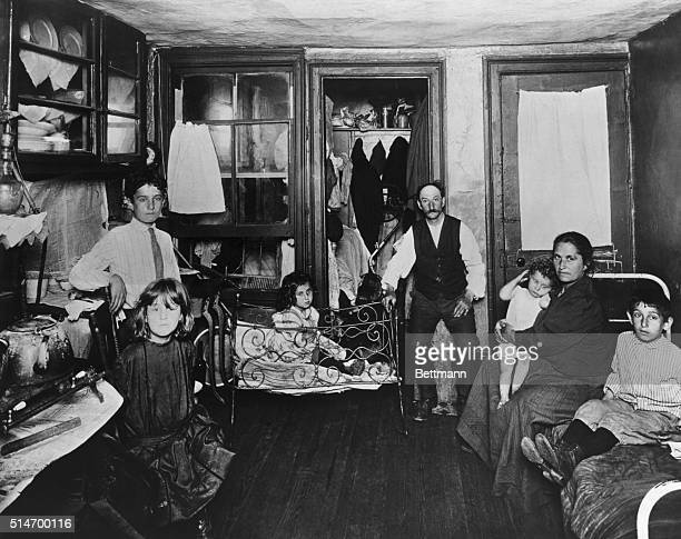 Room in a tenement flat ca 1910 Photograph by Riis