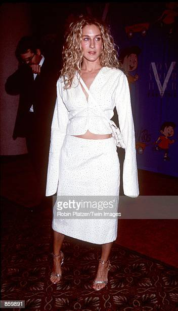 """New York, NY. Sarah Jessica Parker at Rosie O''Donnell's """"For All Kids Foundation's 2nd Annual White Rose Awards Gala."""" Photo by Robin Platzer/Liaison"""