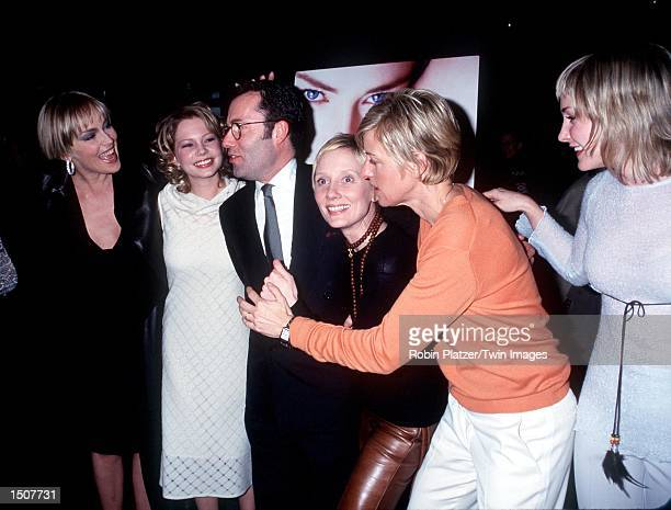 New York NY Sharon Stone Michelle Williams Colin Callender Anne Heche Ellen DeGeneres and Amy Carlson at the premiere of HBO's 'If These Walls Could...