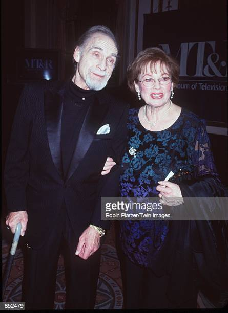 New York NY Sid Ceasar with his wife Florence at The Museum of Television Radio for the annual gala dinner where he was honored Photo by Robin...