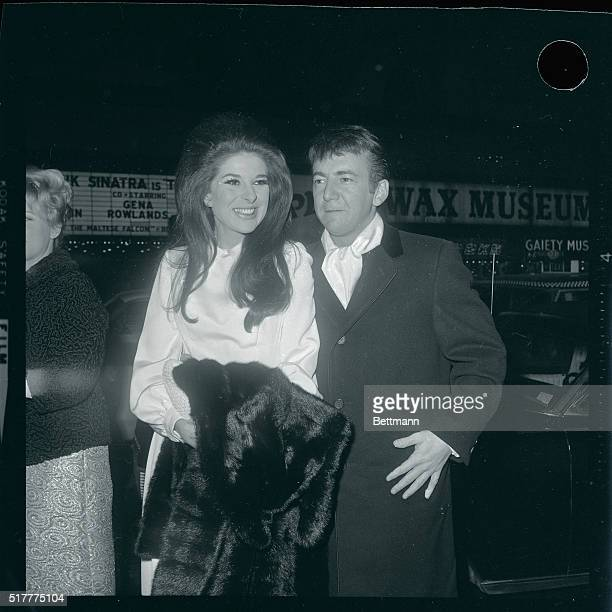 New York NY Singers Bobby Darin and Bobbie Gentry are shown as they arrived at Loew's State Theatre for the gala premiere of 'Dr Dolittle'