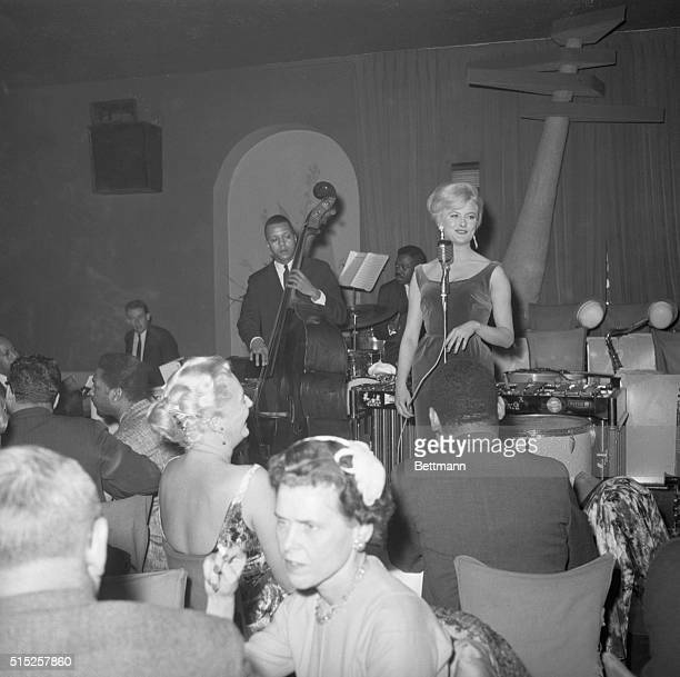 New York NY Swedish singer Monica Zetterlund during her debut at the Basin Street East night club in New York City December 15 1959 It was her first...