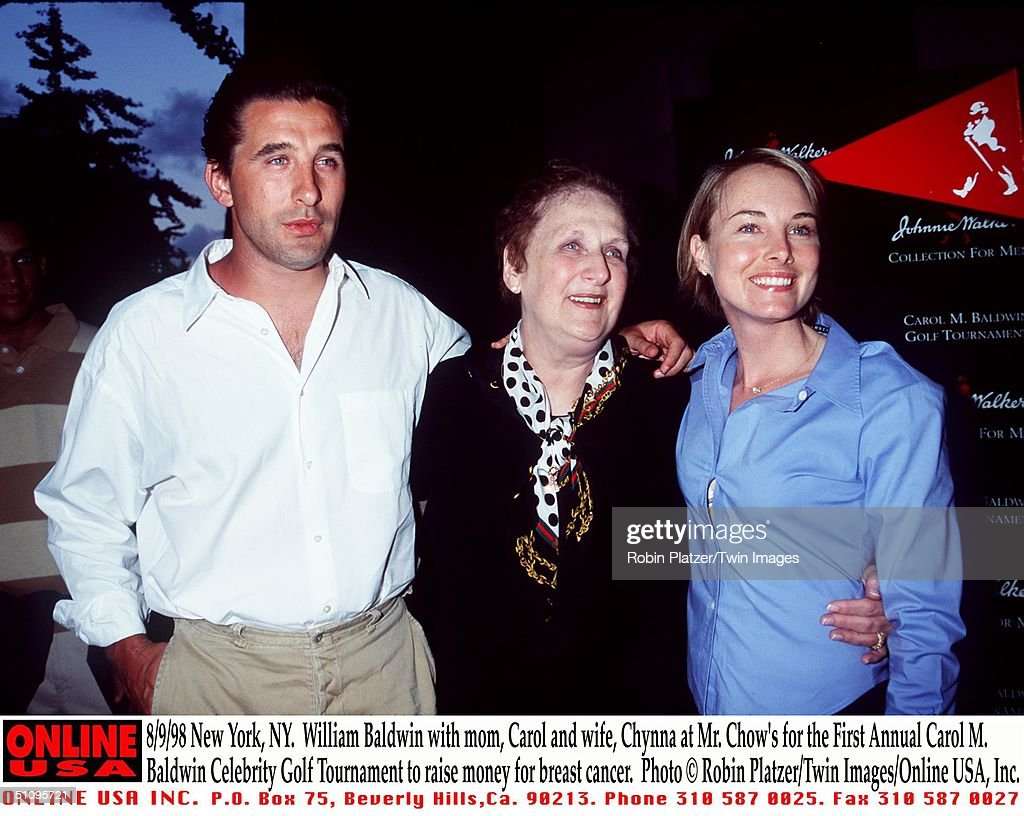 William Baldwin With Mom Carol And Wife Chynna Phillips At Mr Chow's Restaur : News Photo