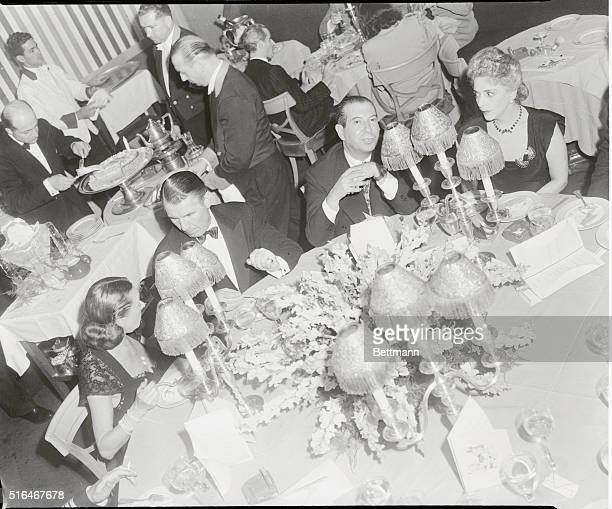 Overhead view of guests at the posh El Morocco Nightclub located at 154 E 54th Street in New York City