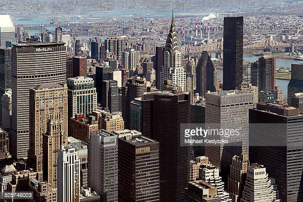new york panorama - metlife building stock pictures, royalty-free photos & images