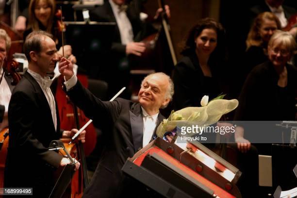 New York Philharmonic celebrates Lorin Maazel's 75th Birthday at Avery Fisher Hall on Tuesday night, March 1, 2005.Lorin Maazel at curtain call