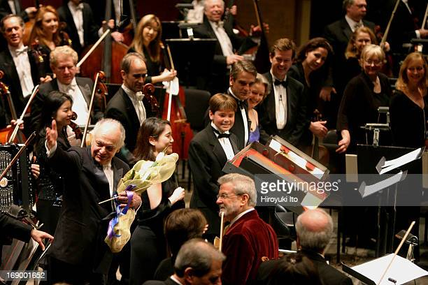 New York Philharmonic celebrates Lorin Maazel's 75th Birthday at Avery Fisher Hall on Tuesday night March 1 2005Lorin Maazel at curtain call with...