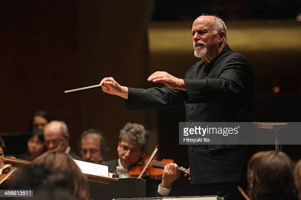 New York Philharmonic performing at Avery Fisher Hall on Thursday night December 5 2013This imageDavid Zinman leading the New York Philharmonic in...