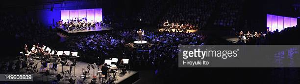 New York Philharmonic performing at Park Avenue Armory on Friday night June 29 2012The concert is titled Philharmonic 360This imageAlan Gilbert leads...