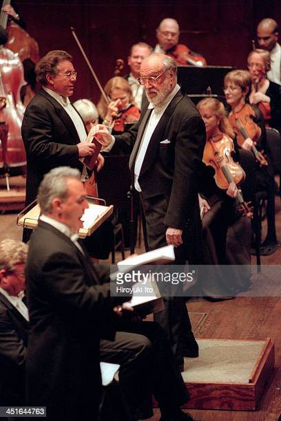 New York Philharmonic performing Bach's St John's Passion at Avery Fisher Hall on Thursday night April 6 2000This imagePeter Schreier top left the...
