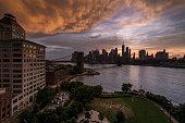 new york skyline from manhattan bridge