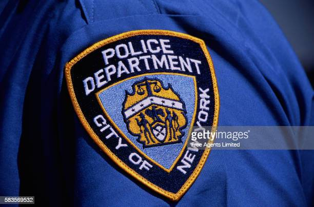 new york police department emblem - new york city police department stock pictures, royalty-free photos & images