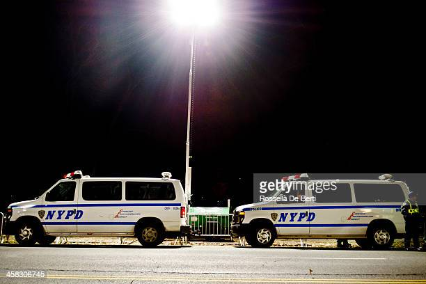 NYPD New York Police Department Vans And A Policeman
