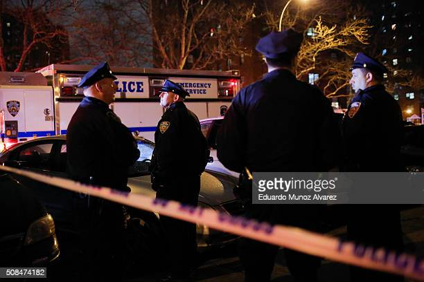 New York Police Officers arrive to the scene of a shooting on February 4 2016 in the Bronx in New York City Two NYPD officers were shot on Thursday...