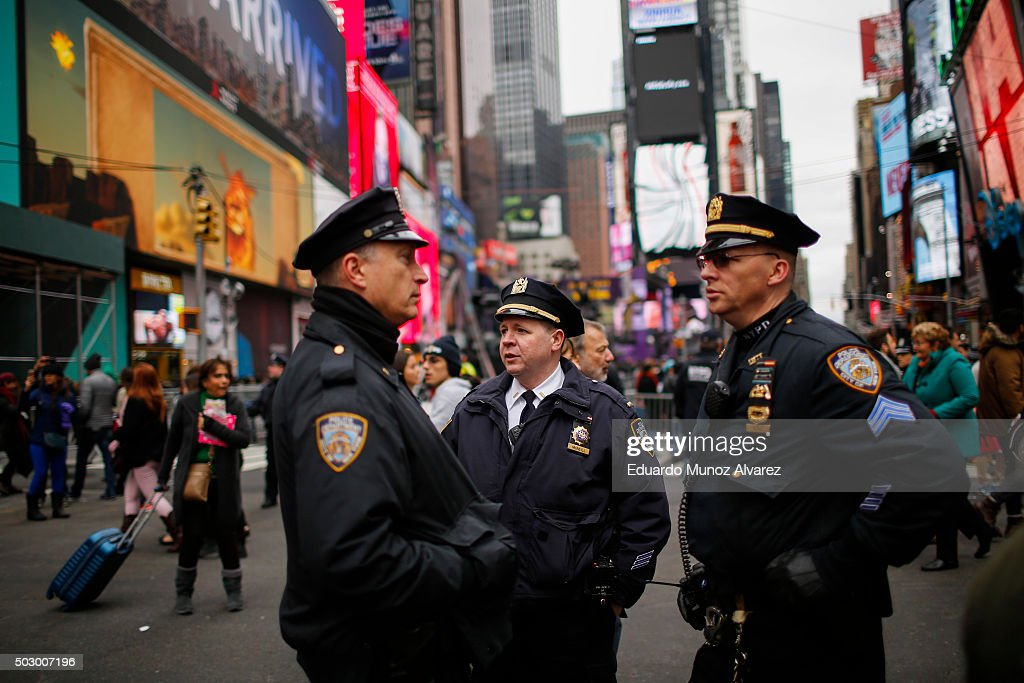 Security Escalated In New York City For New Year's Eve Holiday : News Photo
