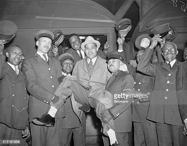 New York Porters and Louis Red Caps pay tribute to Black Dynamite The Pullman Porters at Grand Central station are giving three rousing cheers for...