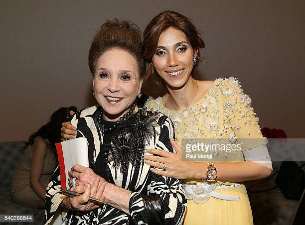 New York Post columnist Cindy Adams and owner of The Watergate Hotel Rakel Cohen celebrate at the grand reopening party of the iconic Watergate Hotel...