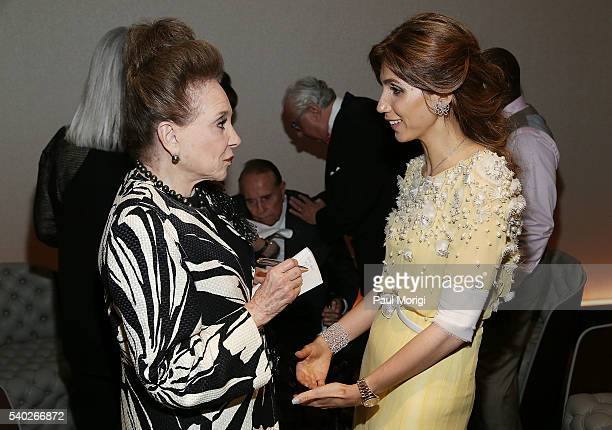 New York Post columnist Cindy Adams talks with owner of The Watergate Hotel Rakel Cohen at the grand reopening party of the iconic Watergate Hotel on...