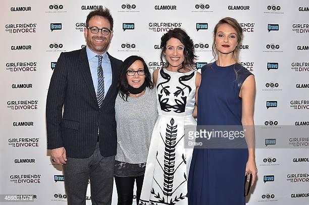 DIVORCE New York Premiere Party at The Crosby Hotel on Thursday November 20 2014 Pictured Paul Adelstein Janeane Garofalo Lisa Edelstein Beau Garrett
