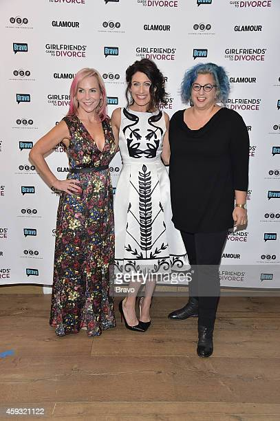 DIVORCE New York Premiere Party at The Crosby Hotel on Thursday November 20 2014 Pictured Marti Noxon Lisa Edelstein Jenji Kohan
