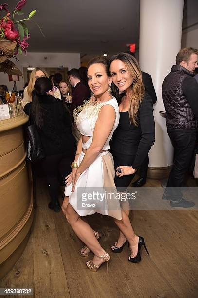 GIRLFRIENDS' GUIDE TO DIVORCE New York Premiere Party at The Crosby Hotel on Thursday November 20 2014 Pictured Teresa Aprea Nicole Napolitano