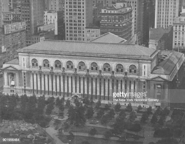 New York Public Library and Bryant Park New York New York 1929