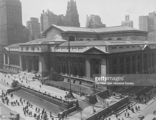 New York Public Library from northeast corner of Fifth Avenue and 42nd Street New York New York 1929