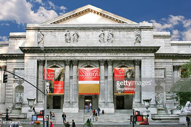 new york public library, manhattan. - new york public library stock pictures, royalty-free photos & images