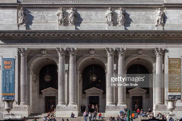 new york public library - eric van den brulle stock pictures, royalty-free photos & images