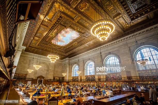 new york public library stephen a. schwarzman building - new york public library stock pictures, royalty-free photos & images