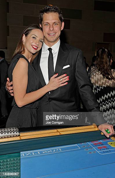 New York Ranger goalie Marty Biron and wife AnneMarie Biron attend the 2012 New York Rangers Casino Night at Gotham Hall on February 28 2012 in New...