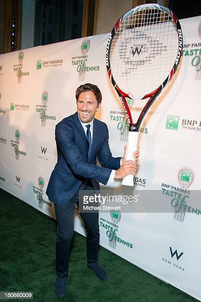 New York Ranger player Henrik Lundqvist attends the 13th annual BNP Paribas Taste of Tennis at the W New York Hotel on August 23, 2012 in New York...